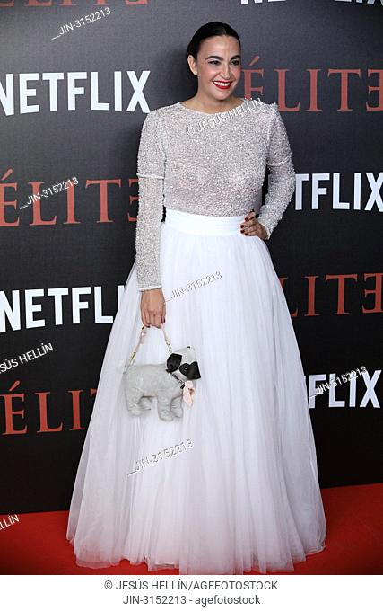 CRISTINA RODRIGUEZ attends 'Elite' premiere at Reina Sofia Museum. Premiere of the Élite series, which premieres Netflix -it is its second Spanish original...