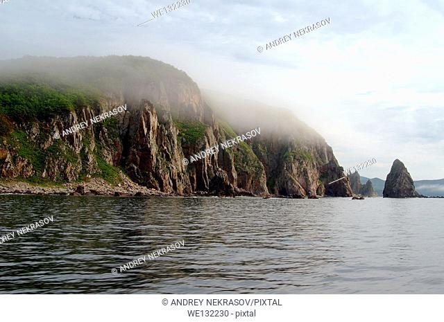 sea landscape. Dalnegorsk city district, Japan sea, Far East, Primorsky Krai, Russian Federation