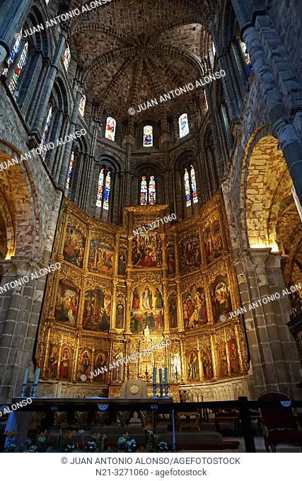 Cathedral of Christ the Saviour. Main reredos. Avila, Castilla-Leon, Spain, Europe