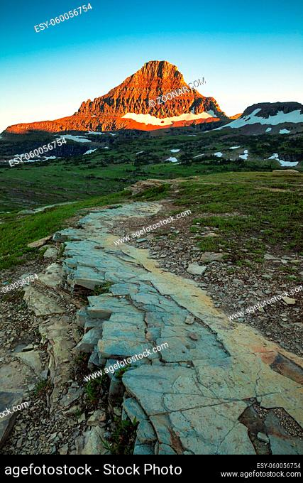 Reynolds Mountain in the Logan Pass area of Glacier National Park, Montana, USA