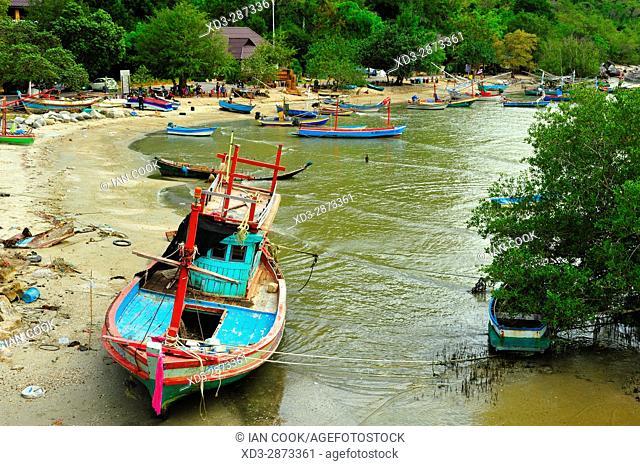 fishing boats, Ao Noi, Prachuap Khiri Khan Province, Thailand