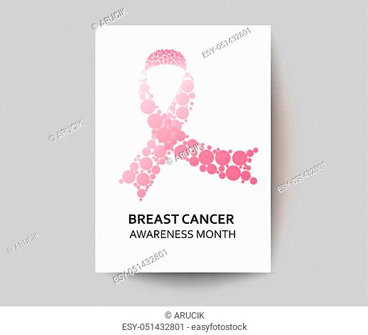 Breast Cancer Day concept. Vector Illustration. Place for your Text