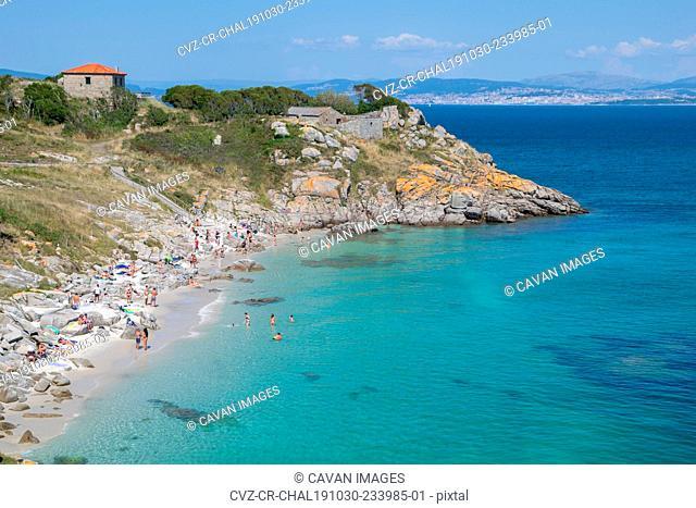 Nostra Senora beach in the Cies Islands. Archipelago located in