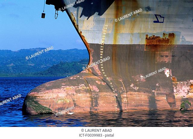Mayotte, Longoni bay, the port