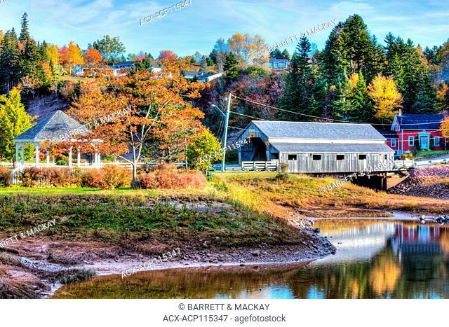 Irish River #2 Covered Bridge, Hardscrabble, St. Martins, Bay of Fundy, New Brunswick, Canada