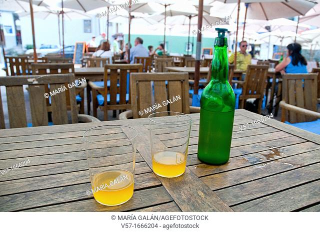 Cider for two  Cudillero, Asturias province, Spain