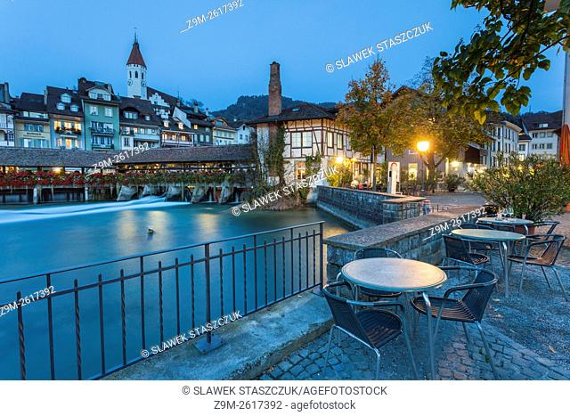 Evening in Thun, canton Bern, Switzerland