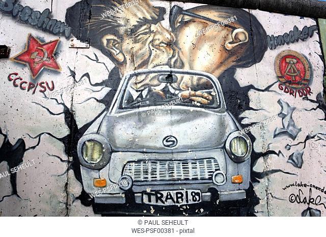 Germany, Berlin, Berlin wall, Mural painting,Graffiti