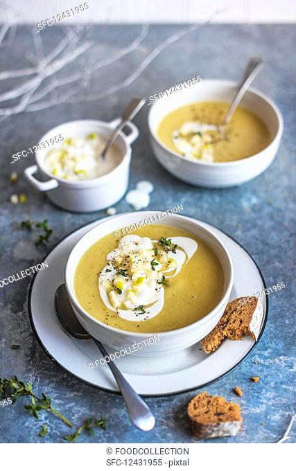 Celeriac and parsnip soup