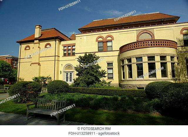 Westerly, RI, Rhode Island, Memorial and Public Library, downtown