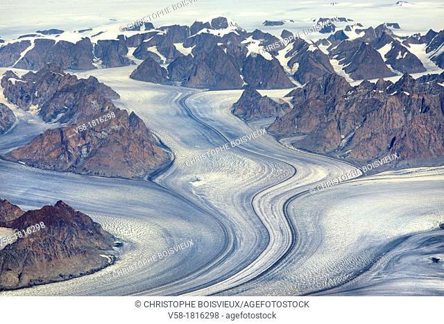 Eastern Greenland, Tasilaq Ammassaliq region, Glaciar