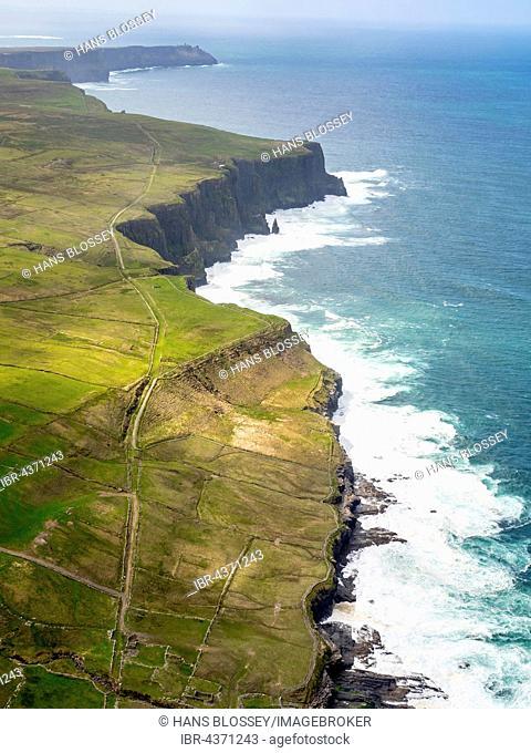 Cliffs of Moher, rocky coastline, County Clare, Ireland