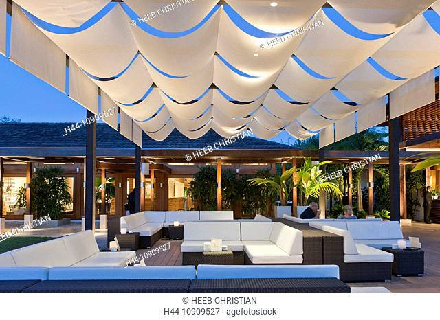 Pool deck, Casa de Campo, Resort, La Romana, Dominican Republic, Caribbean, chairs