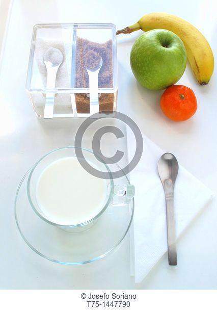 Sugar, milk and fruit