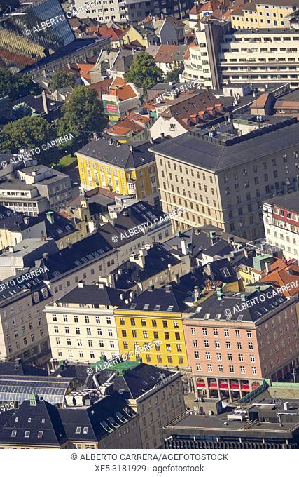 Bergen View from Floyen Mountain, Bergen, Norway, Scandinavia, Europe