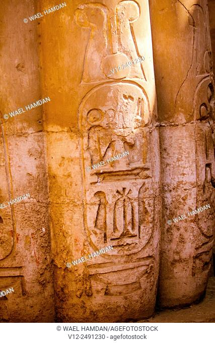 lotus column at Temple of Luxor, Luxor city, Egypt