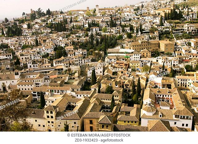 Granada old town from the Alhambra
