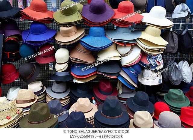 London Portobello road Market vintage hats in UK England