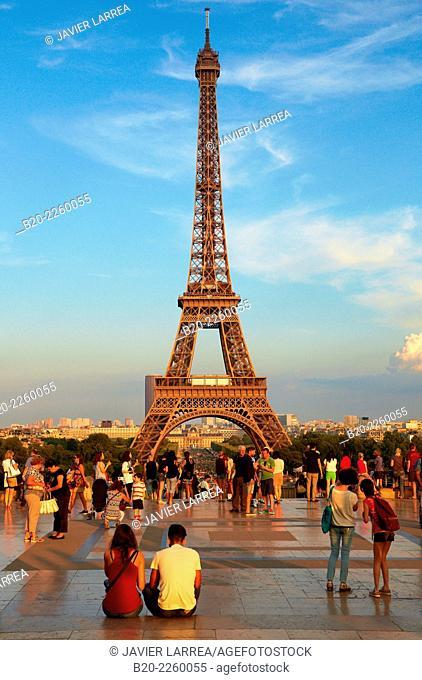 Trocadero. Eiffel tower. Paris. France