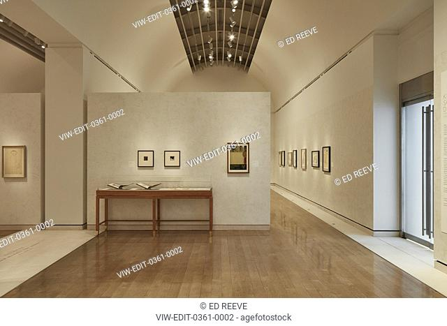 Straight view of exhibition wall. Klimt Schiele Exhibition at the Royal Academy, London, United Kingdom. Architect: N/a, 2018