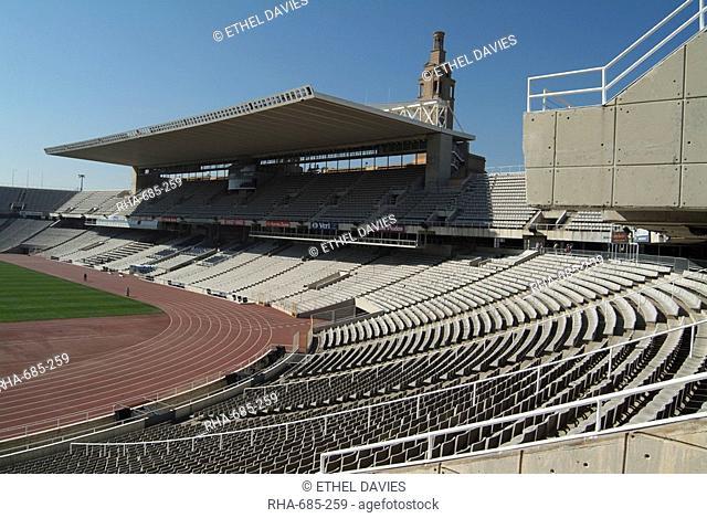 Olympic Stadium, Barcelona, Catalonia, Spain, Europe