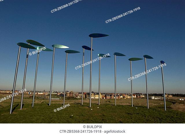 Wind Sculpture at Ravenswood Housing Estate, Ipswich, UK
