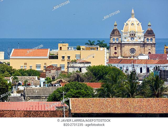 San Pedro Claver church, Cartagena de Indias, Bolivar, Colombia, South America
