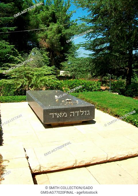 In Mount Herzl cemetary, visitors have observed the Jewish tradition of placing small stones on the headstone of a grave to honor the deceased, Jerusalem