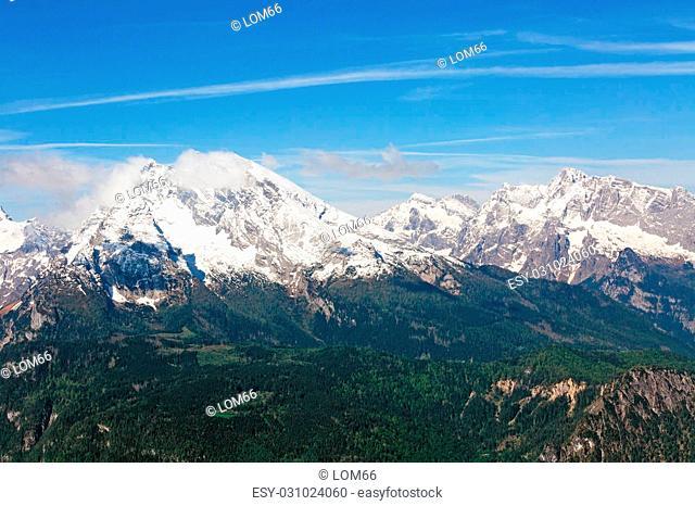 landscape with mountains Eagle's Nest tea house Hitler in Bavaria