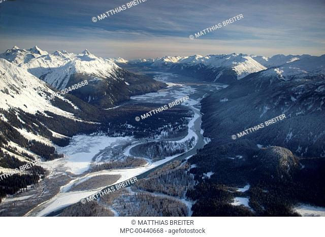 Iskut River near the confluence with the Stikine River Valley, Alaska