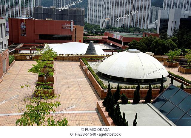 Terrace garden at New Town Plaza, Shatin, Hong Kong