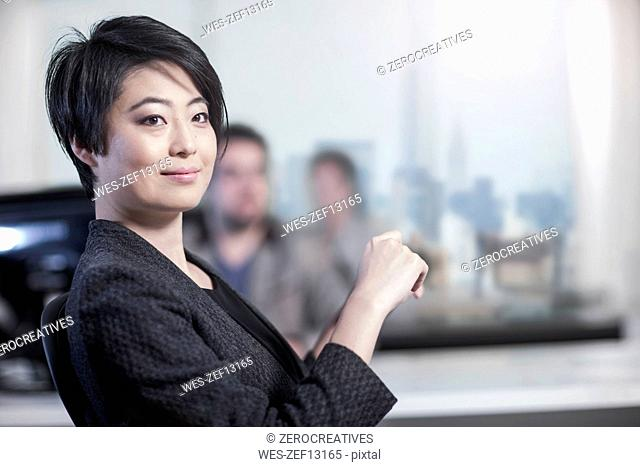 Portrait of confident woman in office