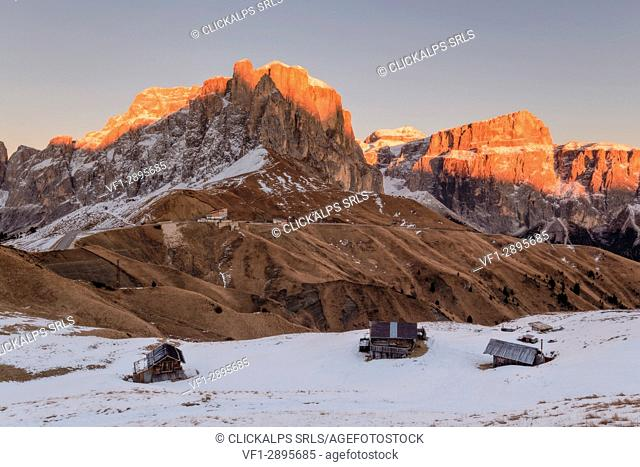 Passo Sella, Trento Province, Trentino - Alto Adige, Italy, Europe
