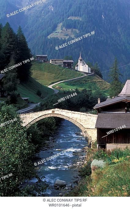 Switzerland, Valais Canton, Binn village