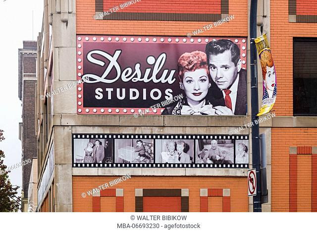 USA, New York, Western New York, Jamestown, Lucy-Desi Museum, dedicated to comedy star Lucille Ball of the 1950s-era TV show, I Love Lucy, exterior