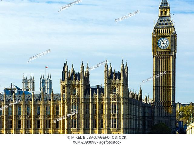 Big Ben and Houses of Parliament. London, England, United kingdom, Europe