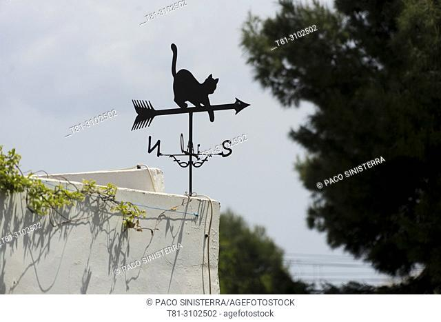 Weather vane, Alcocebre, Castellon, Spain