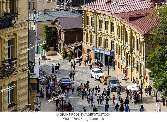 A View Down The Andriyivskyy Descent from The Church Of St Andrew; Kiev, Ukraine