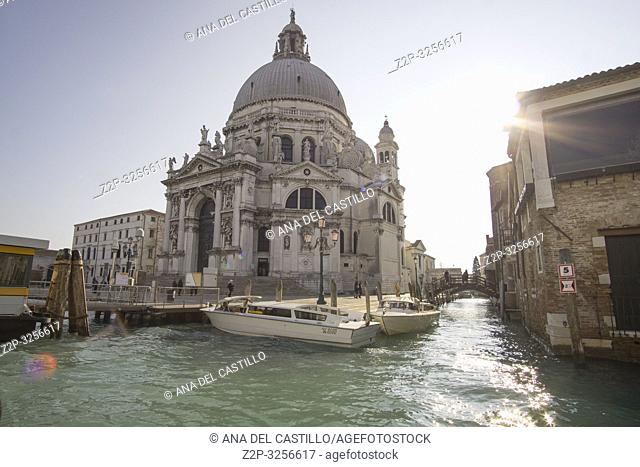 Venice, Veneto, Italy: Santa Maria della Salute Church at Grand Canal