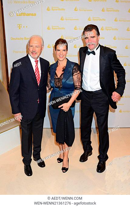 Franz Beckenbauer, Katarina Witt and Heiner Brand at Goldene Sportpyramide at Hotel Adlon. Where: Berlin, Germany When: 16 May 2014 Credit: AEDT/WENN