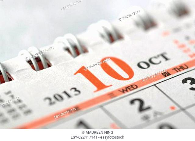 2013 October calendar