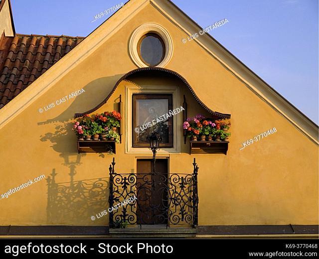 Balcony. Mala Strana. . Prague. Czech Republic
