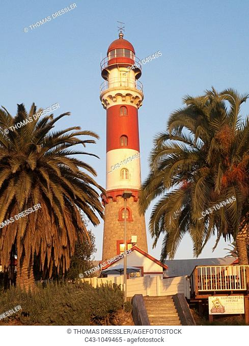Namibia - The lighthouse is a prominent landmark of the seaside town of Swakopmund