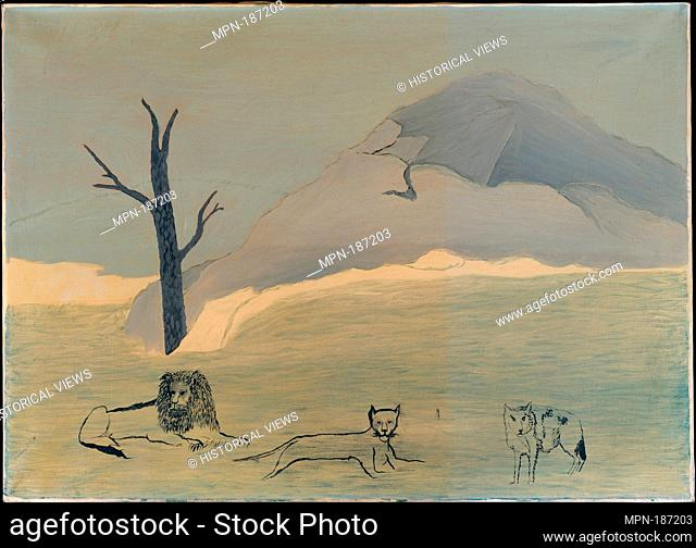 Holy Mountain IV. Artist: Horace Pippin (American, West Chester, Pennsylvania 1888-1946 West Chester, Pennsylvania); Date: 1946; Medium: Oil on canvas;...