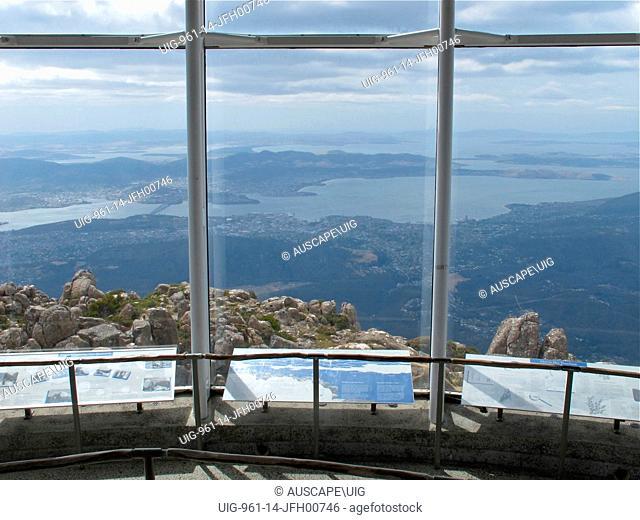Observation building at summit of Mount Wellington, Tasmania, Australia