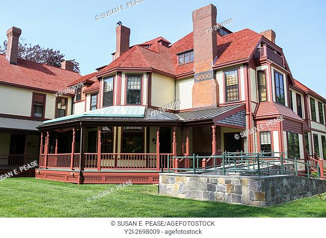 Highfield Hall, a restored Victorian estate built in 1878 for the Beebe family, in Falmouth, Cape Cod, Massachusetts, United States, North America