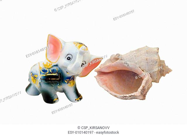 China Toy Elephant and Shell 2