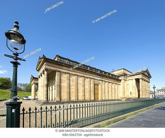 Exterior of the Scottish National Gallery, art museum , on The Mound in Edinburgh, Scotland, United Kingdom, UK