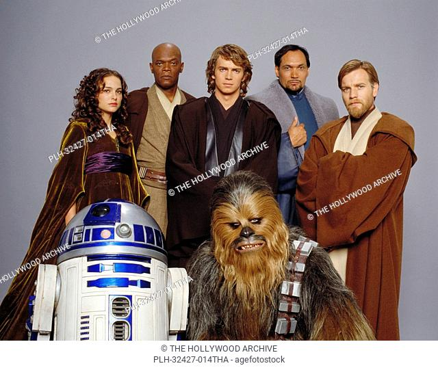 Some of the stars of Star Wars: Episode III Revenge of the Sith: (from left) Natalie Portman (Padme Amidala), Samuel L. Jackson (Mace Windu)