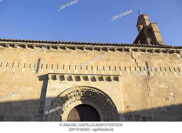 Zamora monumental city in Castile and Leon Spain. San Claudio de Olivares romanesque church
